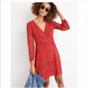 MADEWELL Plus Hazelwood Faux Wrap Floral Dress